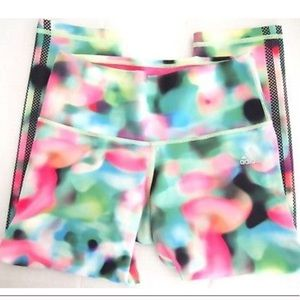 adidas Pants - Adidas Leggings XS Colorful Watercolor Crop Pants